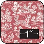Reverse Toile-Red Cotton Fabric -Brodnax Prints