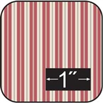 Toile Stripe-Red Cotton Fabric -Brodnax Prints