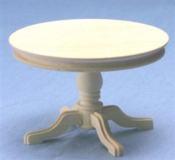 8628- Round Table unfinished 1 inch miniature scale