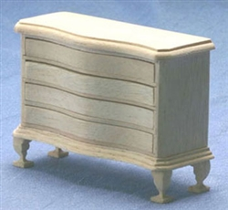 8653- Four Drawer Chest unfinished 1 inch miniature scale