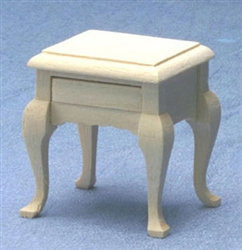 8654- Night Stand unfinished 1 inch miniature scale