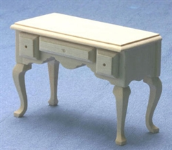 8655- Desk unfinished 1 inch miniature scale