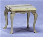 8656- Side Table unfinished 1 inch miniature scale