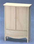 8671-Armoire unfinished 1 inch scale