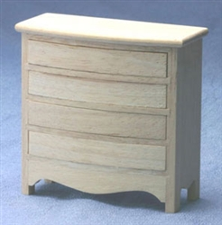 8672-Chest of Drawers unfinished 1 inch scale