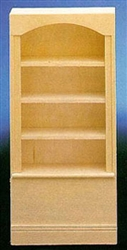 7510- Bookcase unfinished 1 inch miniature scale