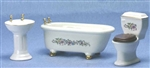 Porcelain Bath Room Ivory design 91401