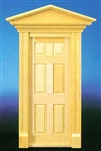 Victorian 6 panel Hooded Door 1 inch Scale 71040
