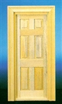 Traditional 6 Panel Door 1 inch Scale 71380