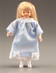 1188 Girl blonde Hair Caco Miniature Doll