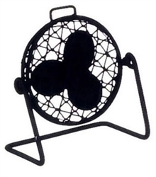 485- Black  Metal Tilt Fan