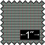 Plaid Teal Silk Fabric -Brodnax Prints