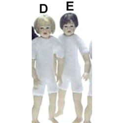 Undressed Boy dolls