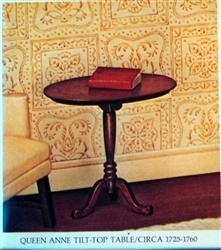 Queen Anne Round Tilt-Top Table Kit
