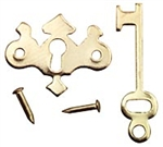 Brass Chippendale Key Plate set miniatures Dollhouse Hardware