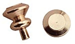 Plain Brass Door Knob 1 inch scale by Houseworks