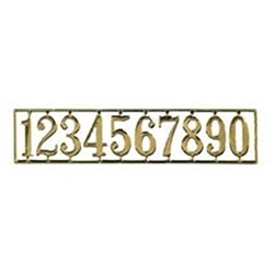 Brass House Numbers 1 inch scale