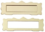 Brass Mail Slot 1 inch scale by Houseworks