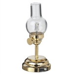 Table Lamp- Brass Hurricane