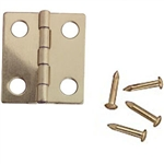 Brass  Door Hinge 1 inch scale by Houseworks