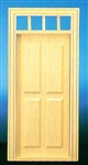 Traditional 4 Raised Panel  Door 1 inch Scale 6001