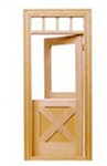 Crossbuck Dutch Door 1 inch Scale 6009