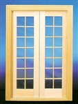 Double French Door 1 inch Scale 6011