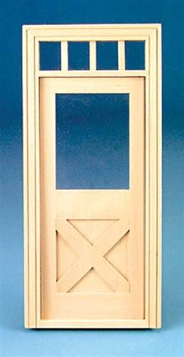 Classic Crossbuck Exterior Door 1 Inch Scale 6012