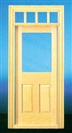 Traditional 2 Panel Exterior Door 1 inch Scale 6018