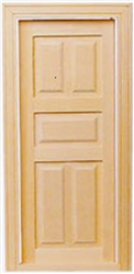 Interior Door 5 Panel 1 inch Scale 6021