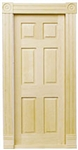 Traditional Block & Trim Door 6 Panel 1 inch Scale 6025