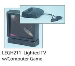 211- Lighted- TV, Computer Game