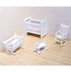 Four-Piece Wooden Nursery Set