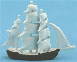 3979-  White sailing ship
