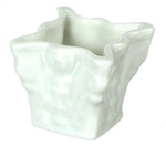 Porcelain white square planter 7114