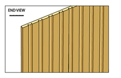 Bead & Board Siding Hollow