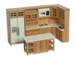 Full Oak Kitchen 6 piece Set