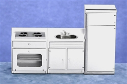 6489 Modern 3 piece Appliance Set