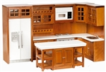 Full Walnut Kitchen 6 piece Set