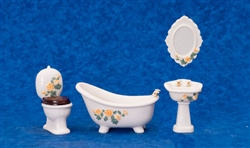Porcelain Victorian Bath Room 4 piece set 6018