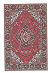 207- Red -blues Geometric Turkish Woven Rug for Miniatures