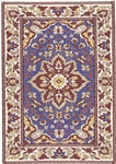318 -Navy--Brown Geometric Turkish Woven Rug for Miniatures