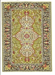 333 -Olive-Red - Geometric Turkish Woven Rug for Miniatures