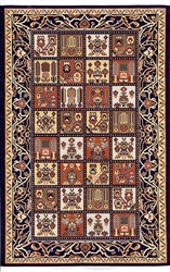 347 -Block Turkish Woven Rug for Miniatures