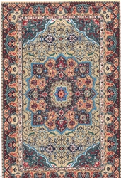370 -Blue--Navy Geometric Turkish Woven Rug for Miniatures