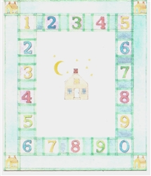 1,2,3 House Nursery Felt Printed Rug - Miniature 5x7 -inches