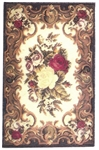 19th C. English Felt Printed Rug Tapestry - Miniature 4x7 -inches