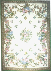 Portuguese Needlepoint Felt Printed Rug - Miniature 5x7 -inches
