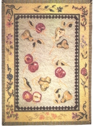 Summer Bounty Felt Printed Rug - Miniature 5x8-inches