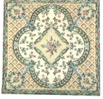 French Tapestry Felt Printed Rug - Miniature 5x6 -inches